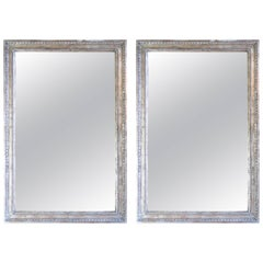 Pair of Silver Gilt Carved Mirrors by Melissa Levinson