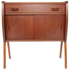 Danish Modern Teak and Oak V-Legged Entry Chest