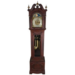 Monumental Antique Durfee & Tiffany Mahogany Moon Phase Tubular Bell Chime Clock