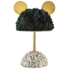 Minos Lamp / Table Lamp in Terrazzo, Brass and Mohair by Merve Kahraman