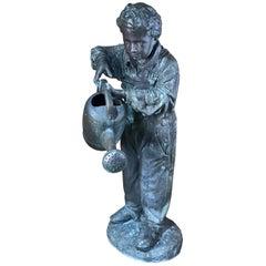 Lifesize Bronze Garden Sculpture/Fountain of a Boy
