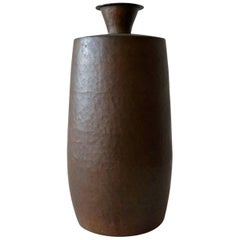 Hand-Hammered Copper Vase from Japan