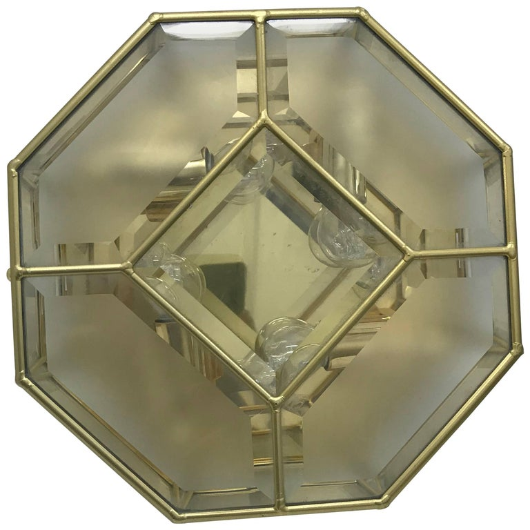 Mid-Century Modern Italian Brass Ceiling, circa 1960 For Sale