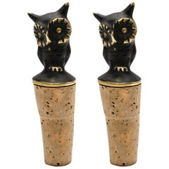 Two Owls Bottle Stopper by Walter Bosse