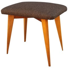 Italian Design Elmwood Stool Geometric Shapes