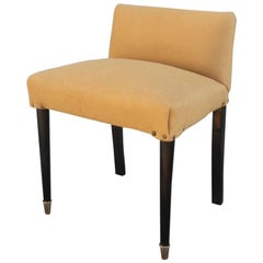 Chair with Small Italian Design Back Very Elegant Mid-Century Modern