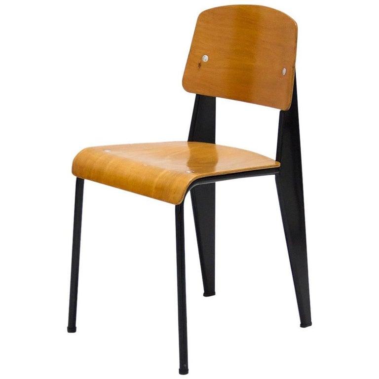 Standard Chair by Jean Prouve, Model Métropole No. 305, circa 1950, France