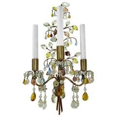 Oswald Haerdtl, J & L Lobmeyr Flower Bouquet Wall Lamp