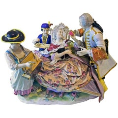 Meissen Gallant Figurines the Sale of Heart Box Model 100, Kaendler, circa 1860