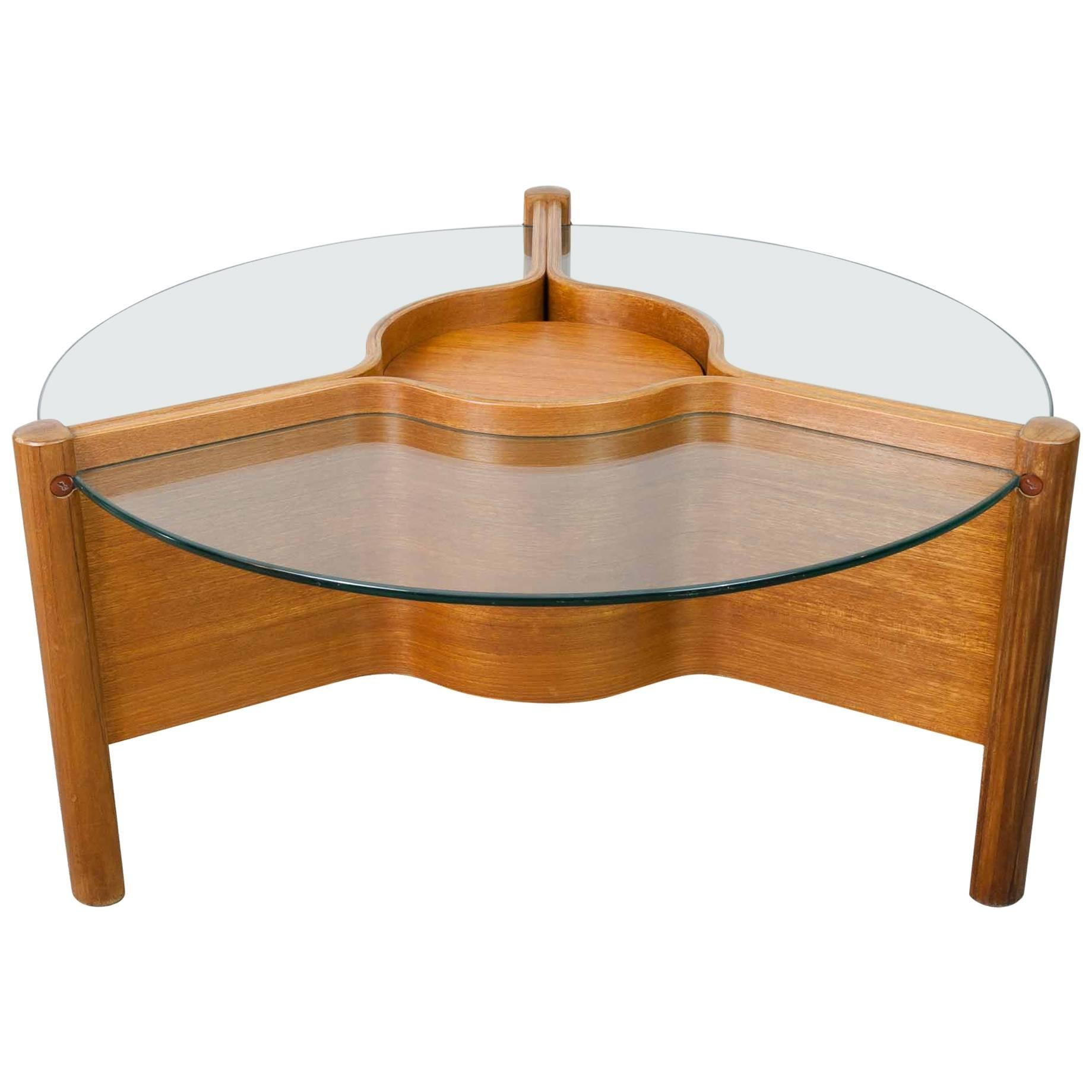 1960s Nathan Plywood and Glass Coffee Table at 1stdibs