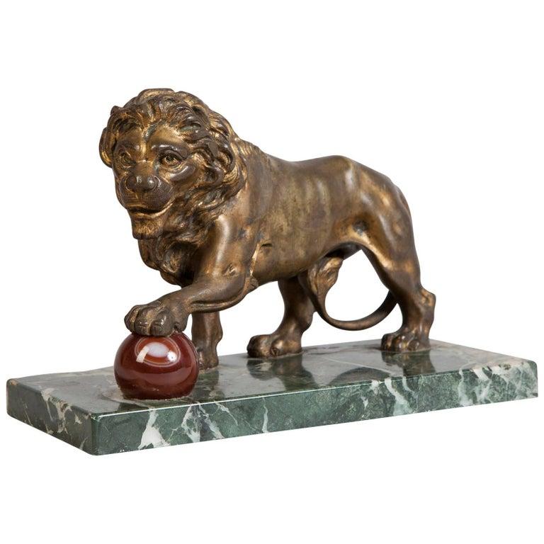 Ormolu Medici Lion Sculpture
