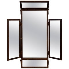 Large Industrial-Style Mirror in Locally Sourced Oxidized Italian Steel