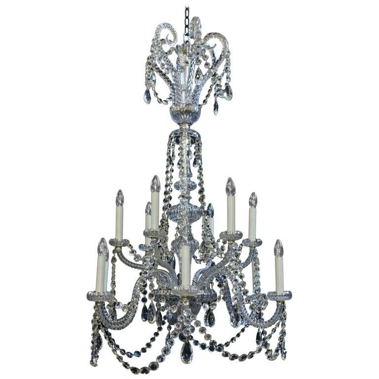 Recently Restored Twelve-Light Antique Victorian Chandelier For Sale - Recently Restored Twelve-Light Antique Victorian Chandelier For Sale