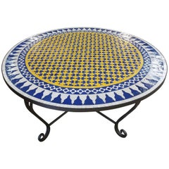 Moroccan Mosaic Table Multi-color Low / High Base Included