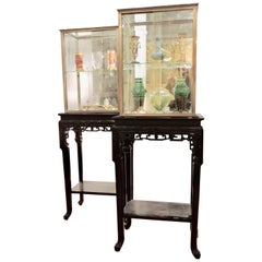 19th Century Japonisme Pair of Display Windows on Stand