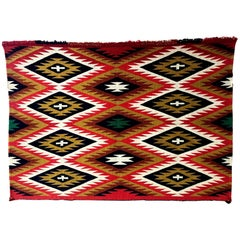 Framed Navajo Germantown Weaving