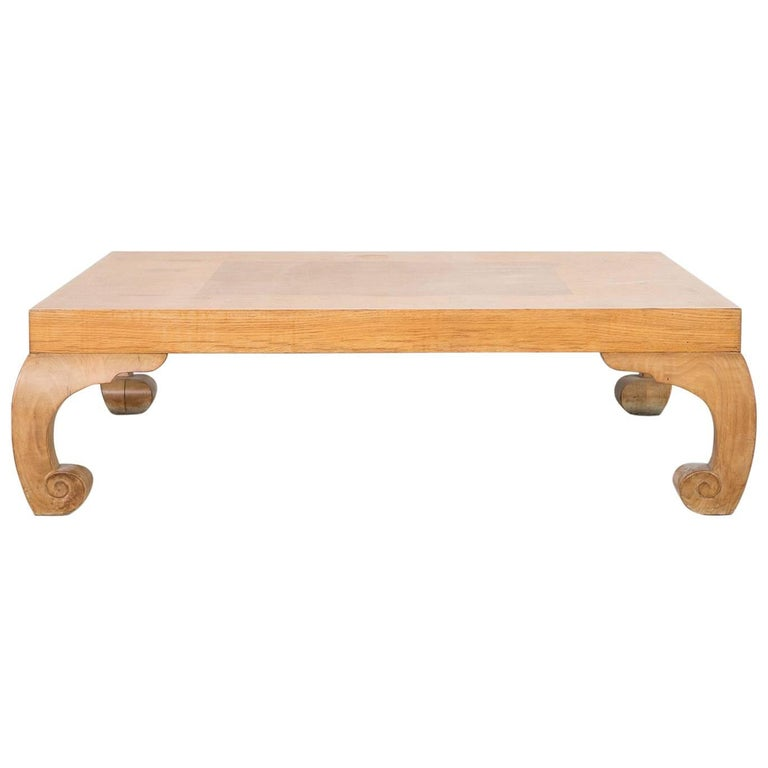 Ralph Lauren Ornamental Burl Wood Coffee Table For