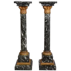 Small Pair of 19th Century Marble Pedestals