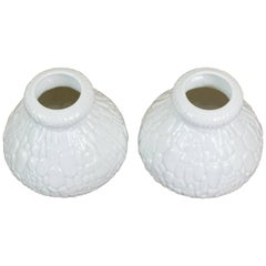 1960s AK Kaiser White Porcelain Crocodile Op Art Vase
