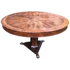 18th Century Italian Parquetry Centre Table