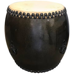 Large Japanese Lacquer Drum