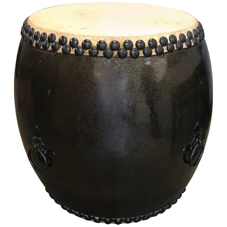 Large Japanese Lacquer Drum For Sale
