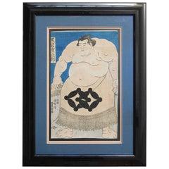 Utagawa Kunisada 'Toyokuni III' Sumo Woodblock Print