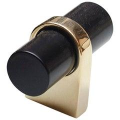 Marjorie Door/Appliance Toggle, Black Enamel and Brass