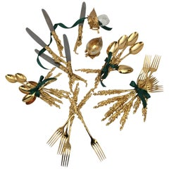 Gabriella Crespi's Gilded Cutlery