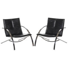 Paul Tuttle Arco Pair of Lounge Chairs for Strassle