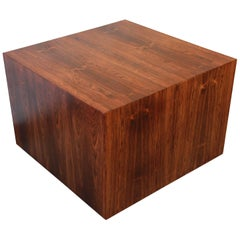 Milo Baughman for Thayer Coggin Rosewood Cube Coffee Table