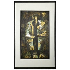 Josephs Coat Abstract Expressionist Silkscreen Serigraph by Dean J. Meeker