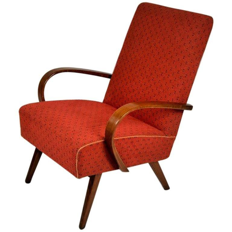 Bentwood Lounge Armchair by Thon / Thonet, 1960s