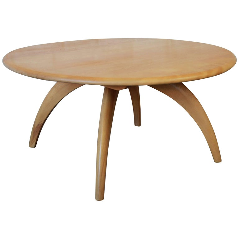 Heywood Wakefield Mid Century Modern Wishbone Lazy Susan Round Coffee Table At 1stdibs