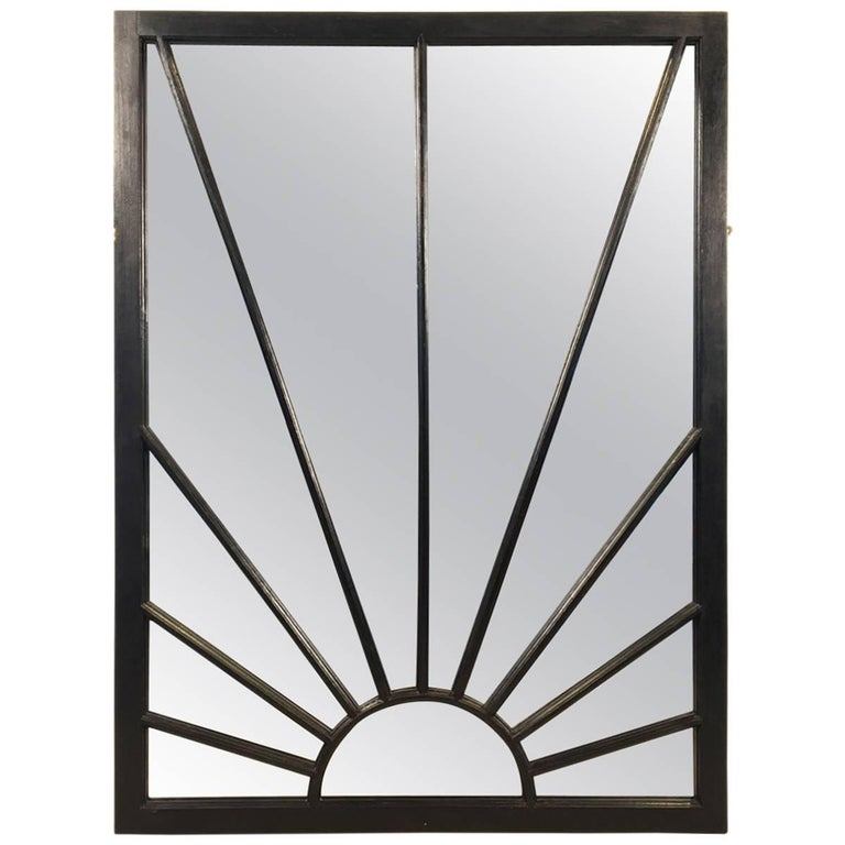English Rectangular Black Frame Mirrors (H 48 3/4 x W 35 3/4)