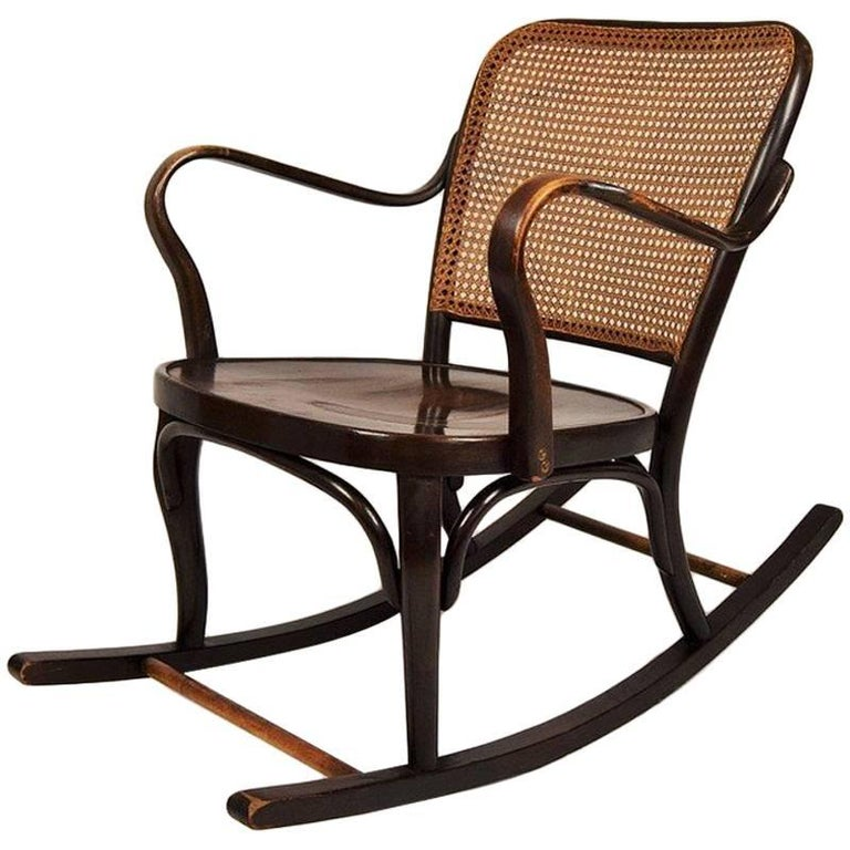 Rare Rocking Chair Thonet A 752 by Josef Frank, the 1930s
