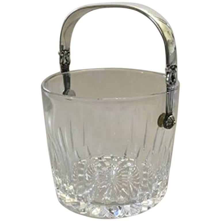 Georg Jensen Acorn Ice Bucket in Sterling Silver and Glass #1137