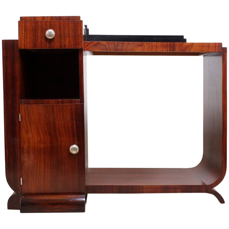 French Rosewood Art Deco Side Hall Table