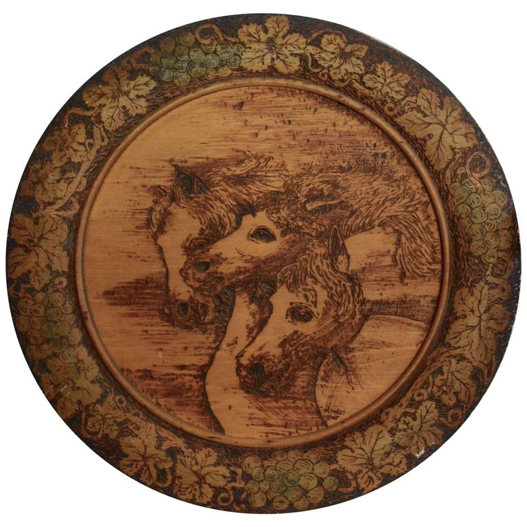 1905 Carved Horses Wall Hanging by John B. Wikoff
