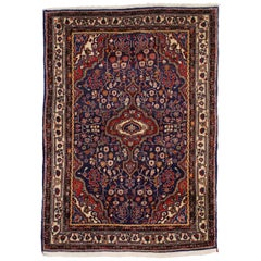 Vintage Persian Sarouk Rug with Traditional Style