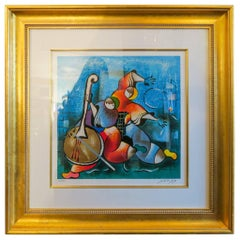 ON SALE NOW! David Schluss Banjo Song 172/350 Serigraph, Fantastic Colors Signed