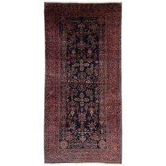 Antique Persian Sarouk Rug, Persian Gallery Rug