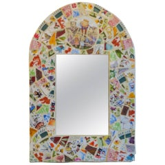 Really Cute and Unique Hand Done Mosaic Mirror Bright Happy Colors and Designs