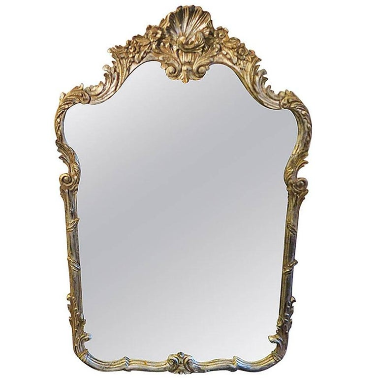 Vintage la barge antiqued silver mirror great design for Silver mirrors for sale