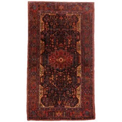 Antique Persian Hamadan Gallery Rug with Modern Tribal Style