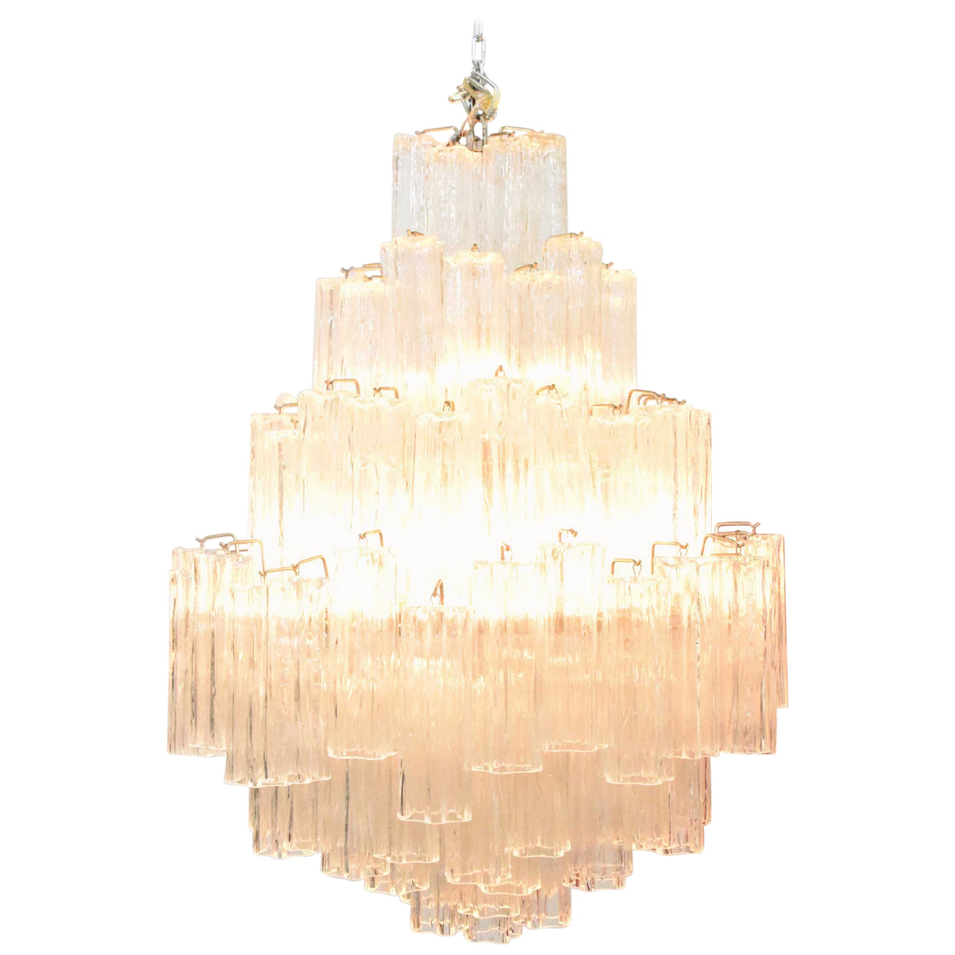 Very Large Venini Tronchi Chandelier
