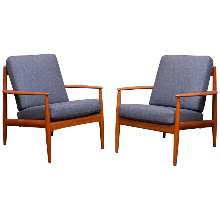 Danish Lounge Chairs by Greta Jalk For Sale