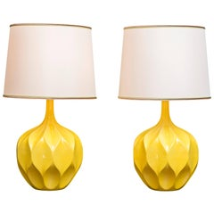 Mid-Century Yellow Lamps