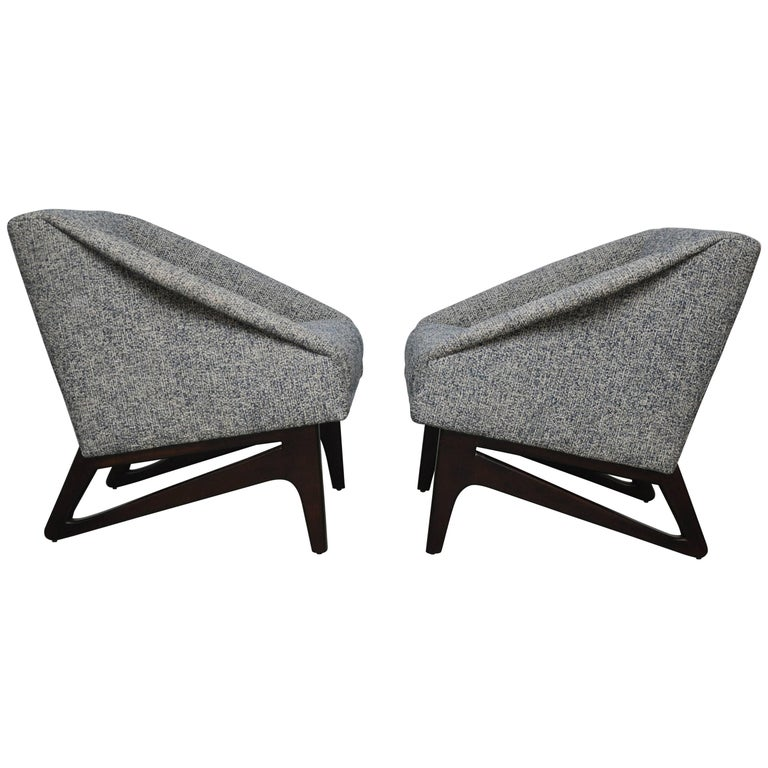Italian Sculptural Form Lounge Chairs