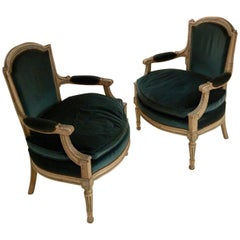 Elegant Pair of Armchairs in the Style of Louis XVI by Maison Jansen